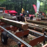Norwood HD36 being demonstrated at the Confor woodland show 2015