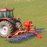 Opico grass harrow with seeder