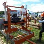 Norwood MX34 band sawmill being demonstrated at the APF show 2012