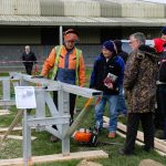 Logosol Farmer mobile chainsaw mill being demonstrated at our open day March 2017